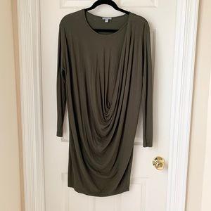 COS Drape Dress in Olive